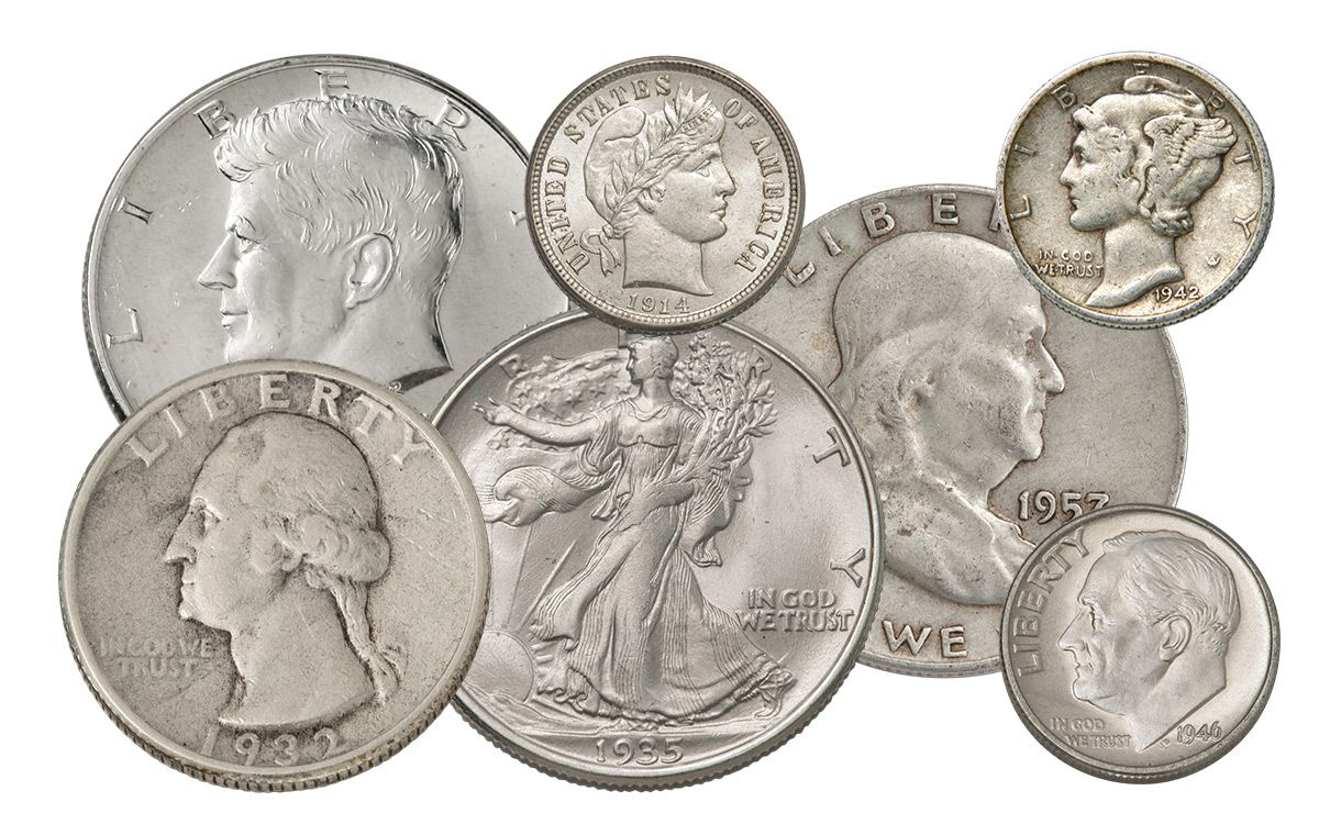 1 4 Troy Lb Bag 1892 1964 Us Silver Coins 90 Silver