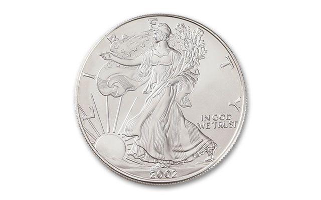 2002 1 Dollar 1 Oz Silver Eagle Bu Govmint Com