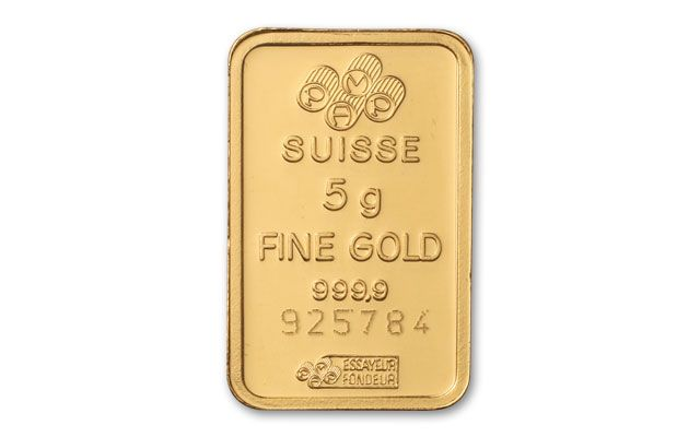 Pamp Suisse 5 Gram Gold Bar In Assay Card Govmint Com