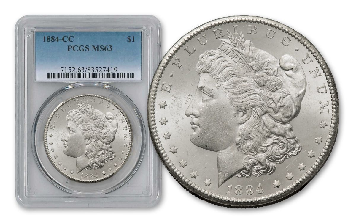 1882 1884 Carson City Morgan 3 Silver Dollar Set Pcgs Ms63