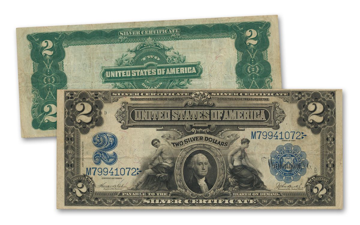 1899 2 silver certificate vf govmint 1899 2 dollar silver certificate vf 1betcityfo Choice Image