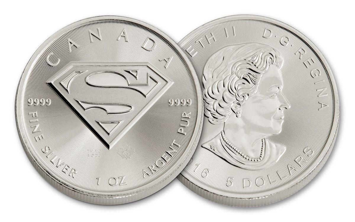 2016 Canada 5 Dollar 1 Oz Silver Superman Coin