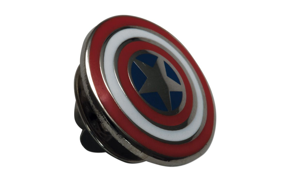 2016 Fiji 2 Oz Silver Captain America Shield Shaped Proof