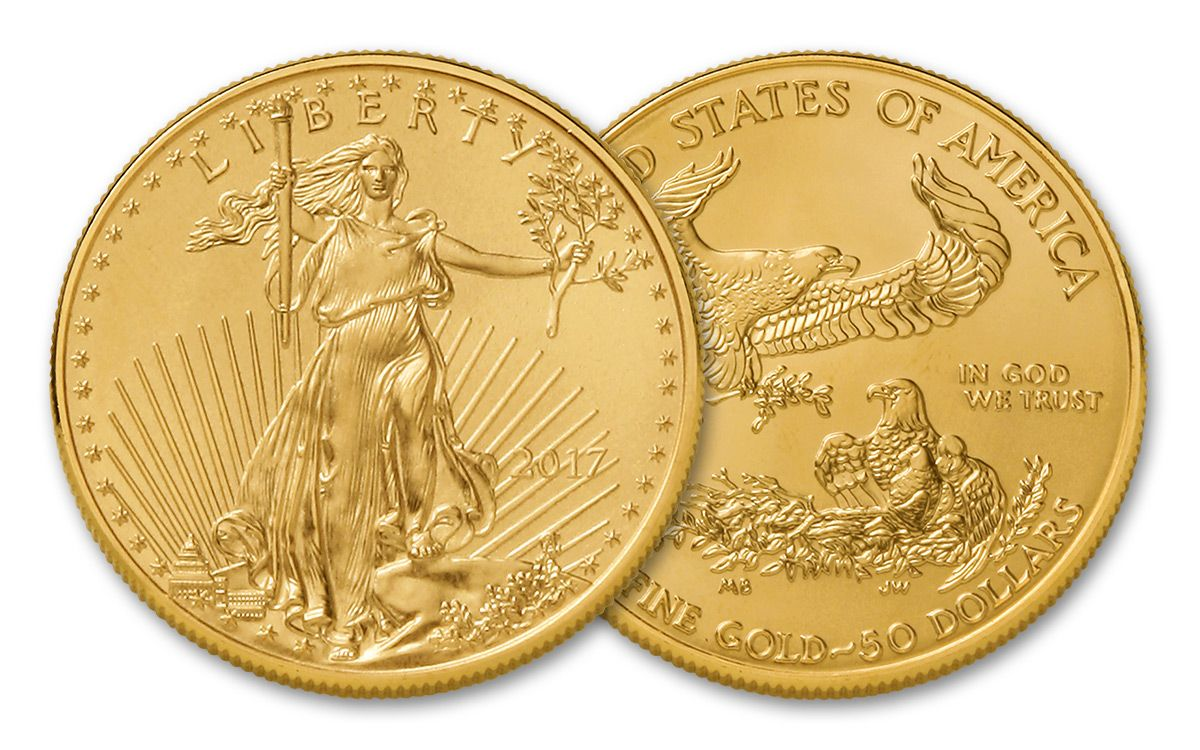 2017 50 Dollar 1 Oz Gold Eagles Brilliant Uncirculated