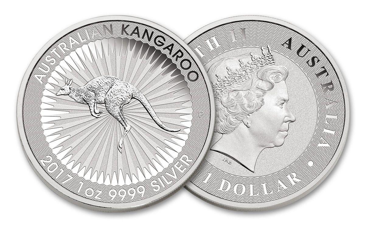 2017 Australian 1 Dollar 1 Oz Silver Kangaroo Bu Coin Govmint Com