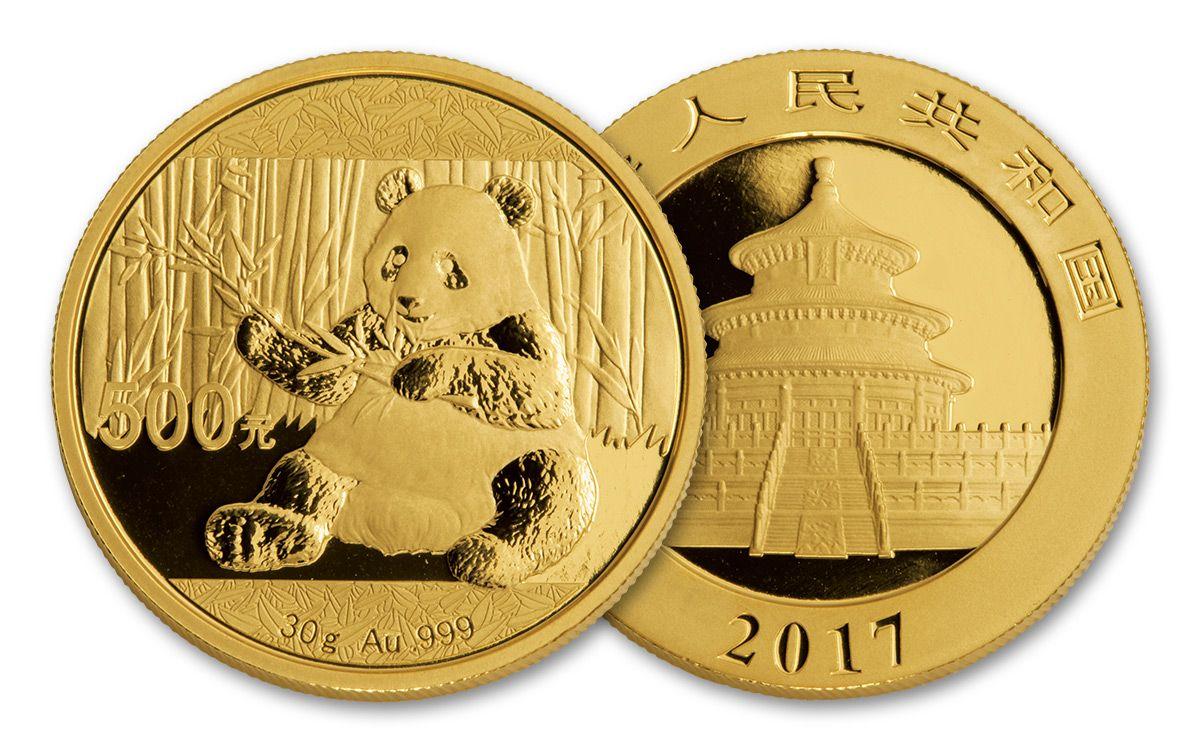 2017 China 30 Gram Gold Panda Brilliant Uncirculated Coin