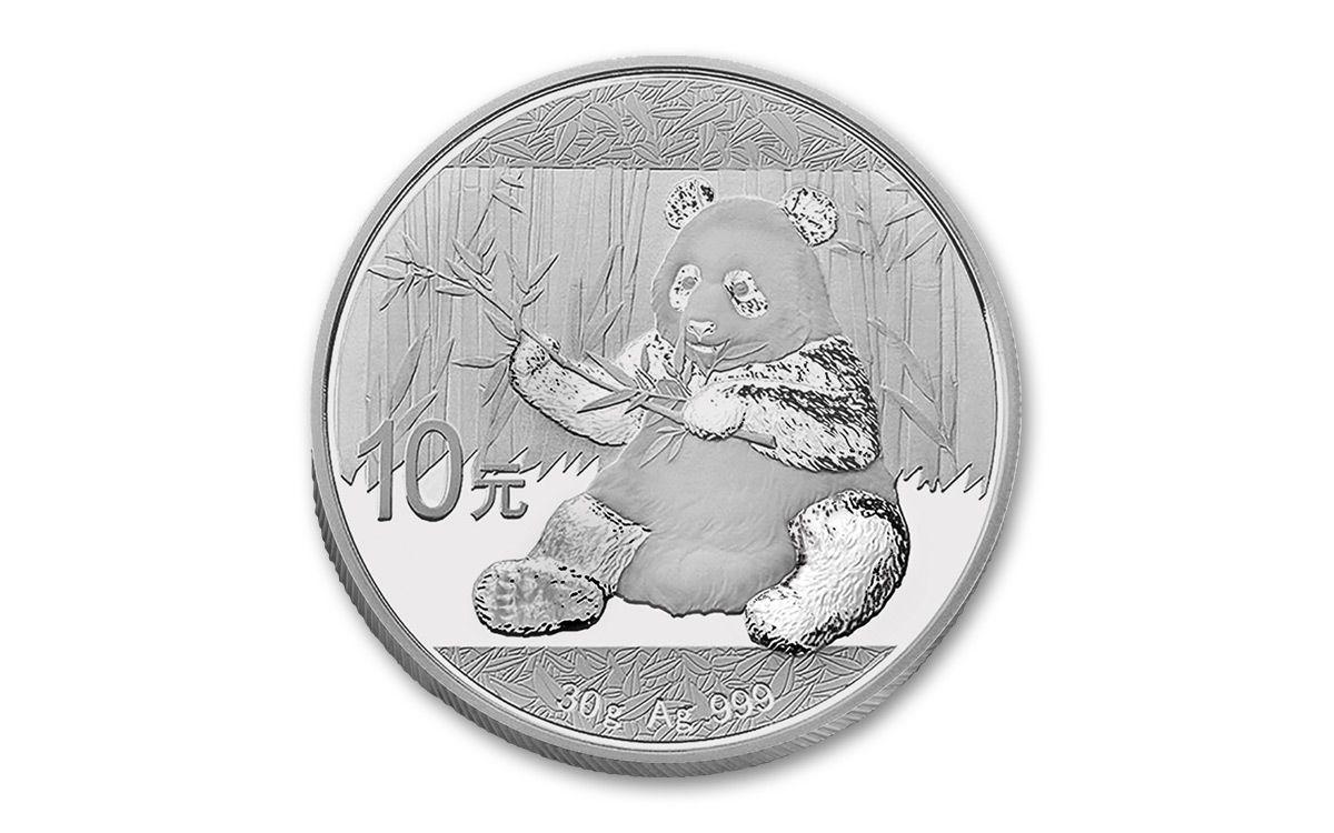 2017 China 30 Gram Silver Panda Ngc Ms69 Er Panda Label