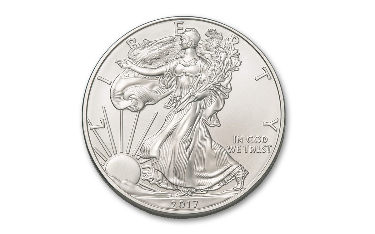 2017 Us 1 Dollar 1 Oz Silver Eagle Bu 500 Coin Monster Box