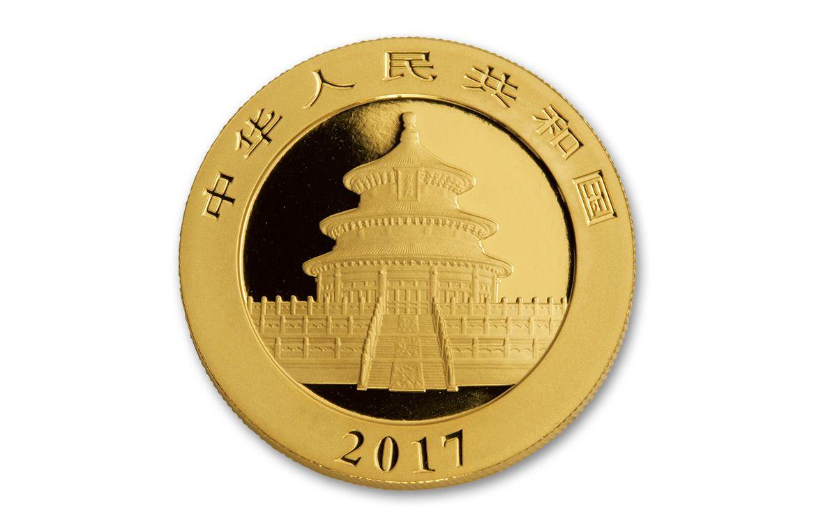 2017 China 100 Yuan 8g Gold Pandas Ngc Ms70 Coins