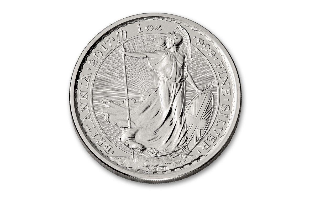 2017 Great Britain 1 Oz Silver Britannia Ngc Ms69 Fr Coin
