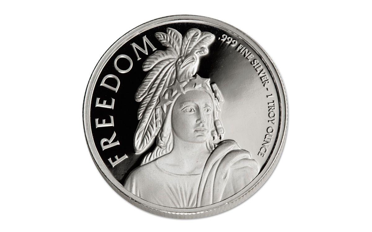 1 Oz Silver Statue Of Freedom Bullion Round Govmint Com