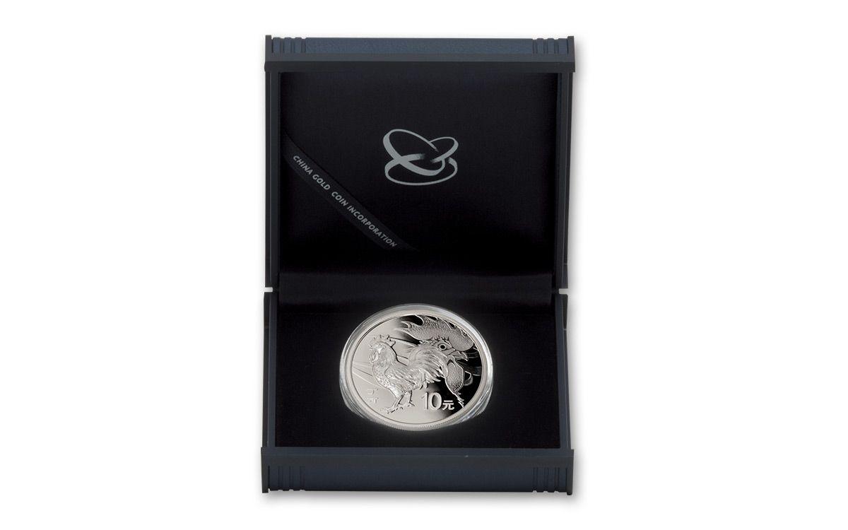 2017 China 30 G Silver Year Of The Rooster Proof Coin