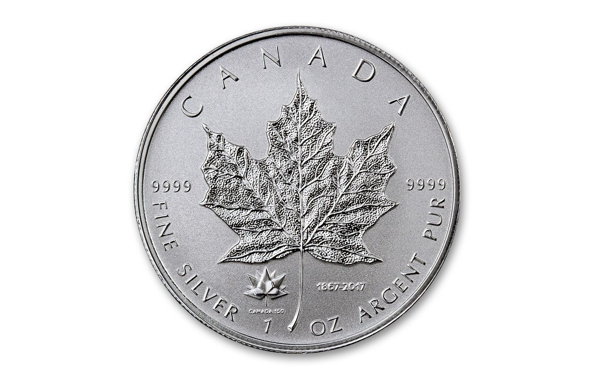 5 2017 1 Oz Fine Silver Maple Leaf 150th Rev Proof