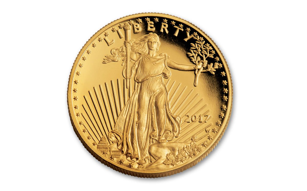 2017 Us West Point 50 Dollar 1 Oz Gold Eagle Proof Coin