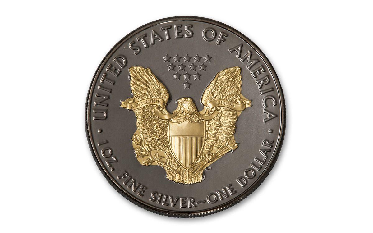 2017 1 Dollar 1 Oz Silver Eagle Black Ruthenium Bu