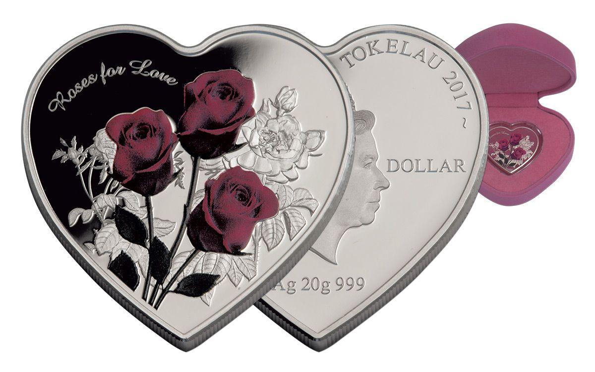 2017 Tokelau 25 G Silver Roses For Love Proof Govmint Com