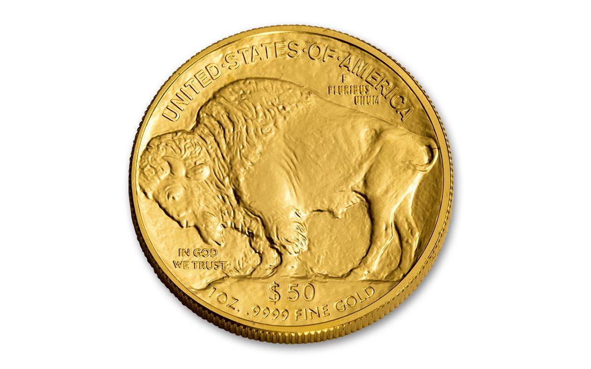 2017 50 Dollar 1 Oz Gold Buffalo Pcgs Ms70 Trump Label