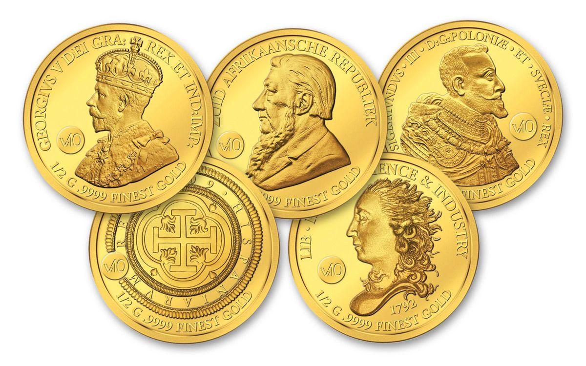 2017 Sb 5 Gram Gold Valuable 10 Proof Like Coin Set