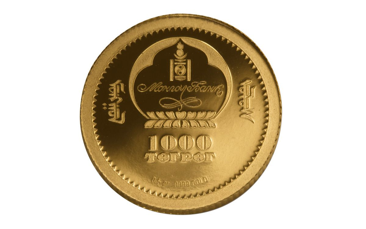 2017 Mongola Half Gram Gold Mongolian Nature Red Deer