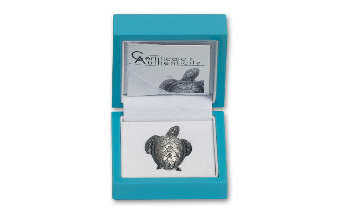 2017 Palau 45 G Silver Antique Sea Turtle Govmint Com