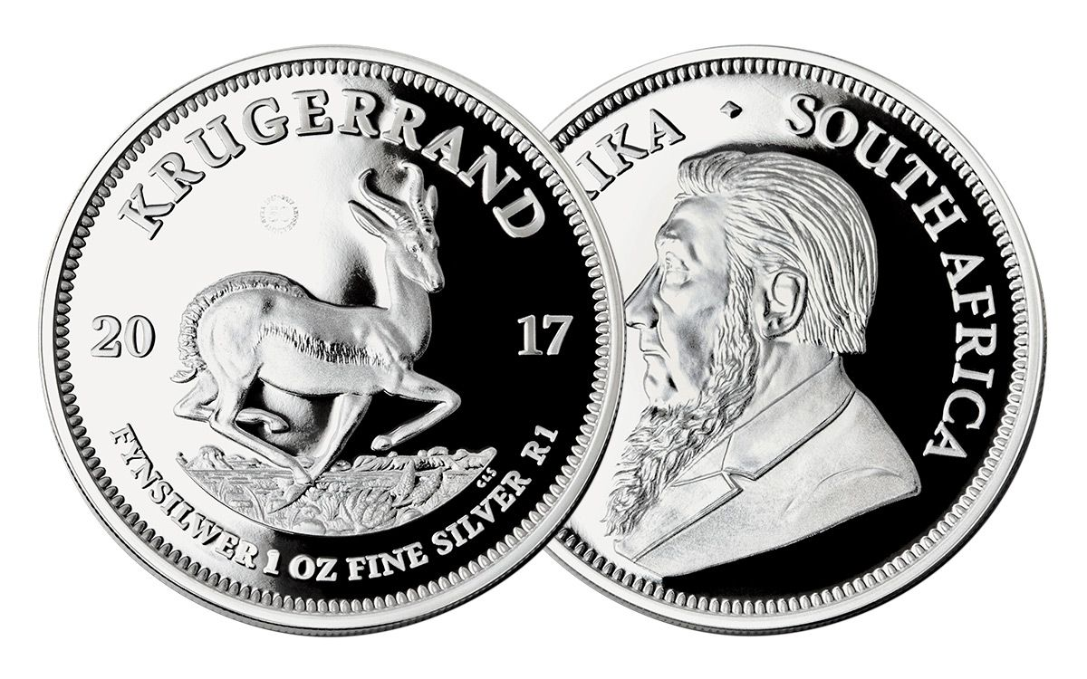 2017 South Africa 1 Oz Silver Krugerrand Proof Coin