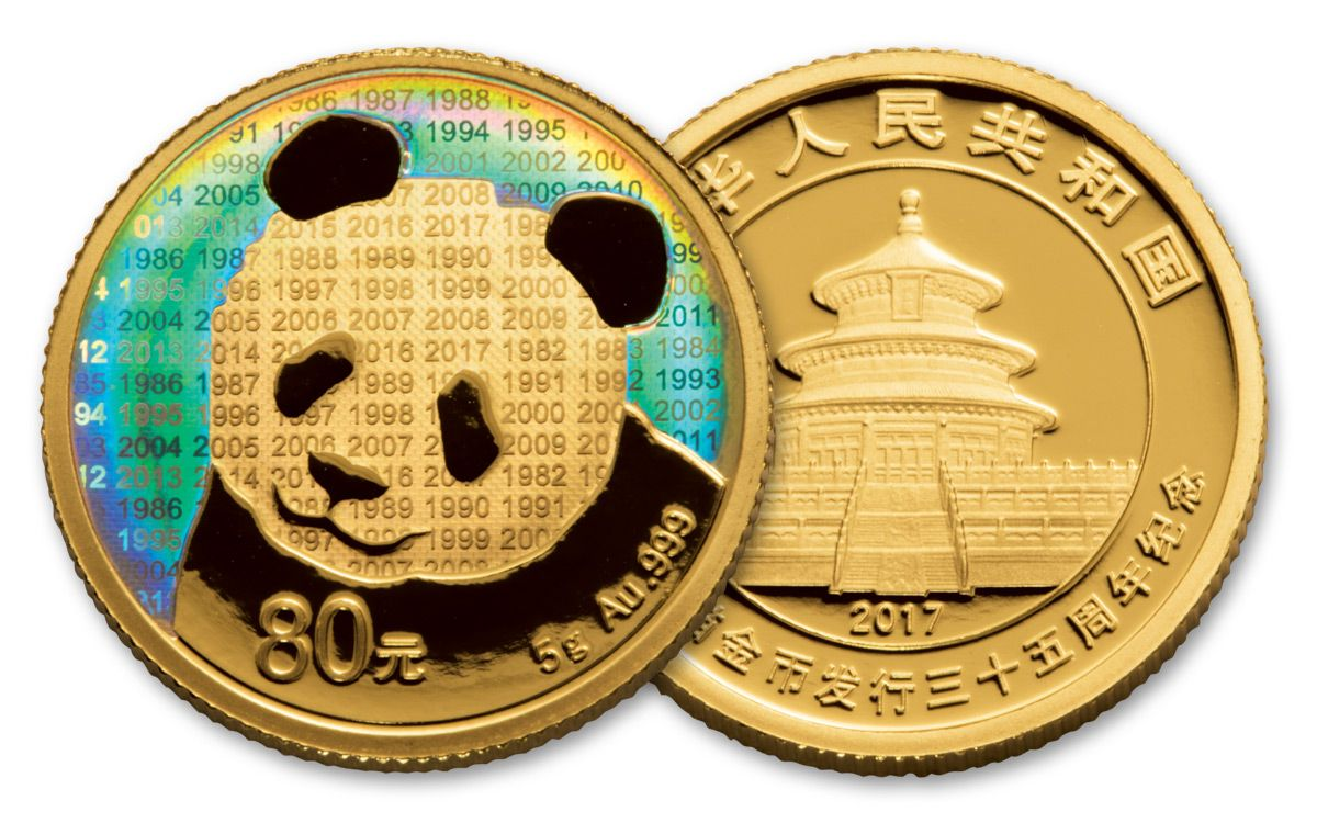2017 China Gold Silver Panda 35th Anniversary 2 Proof Set