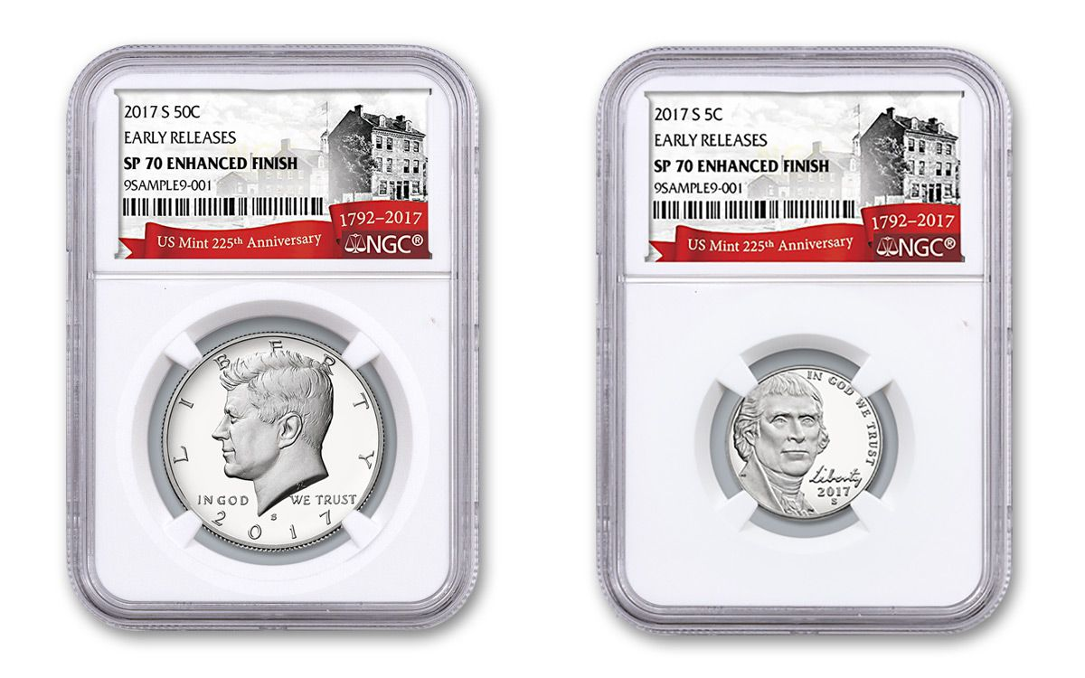 us mint 225th anniversary enhanced unciculated coin set ngc sp70 early release