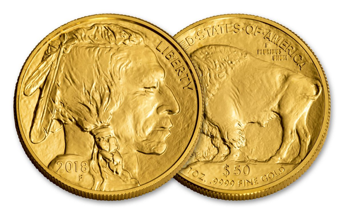 2018 Us 50 Dollar 1 Oz American Gold Buffalo Bullion Coin