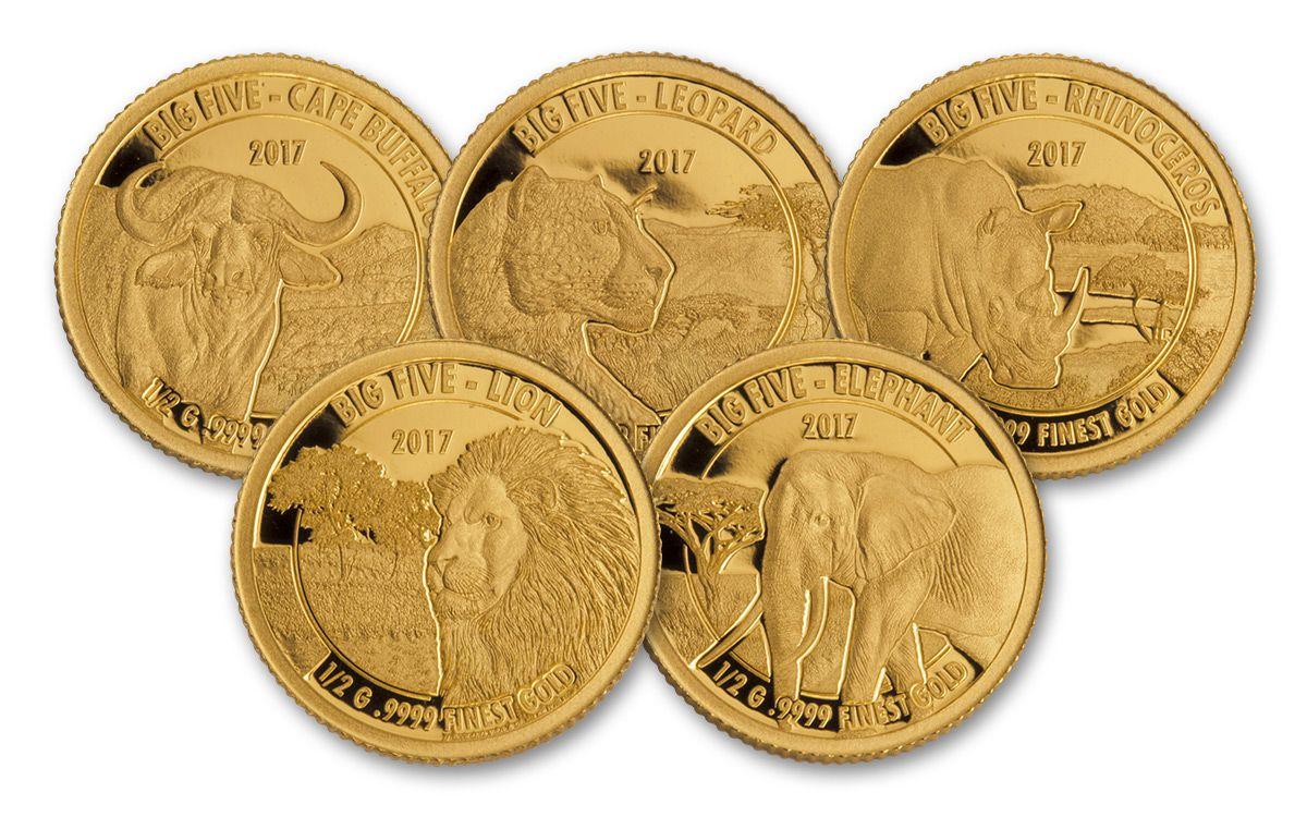 2017 Tanzania Half Gram Gold Big Five Elephant Proof