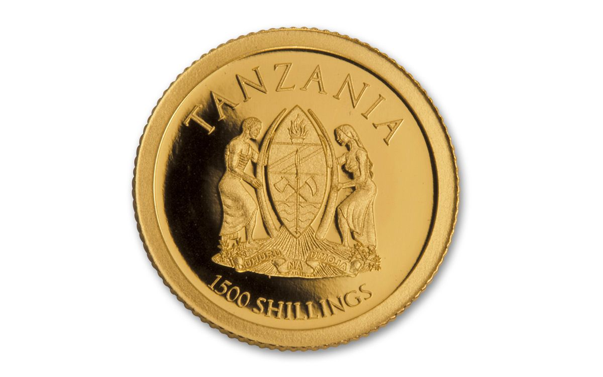 2017 Tanzania Half Gram Gold Big Five Elephant Proof