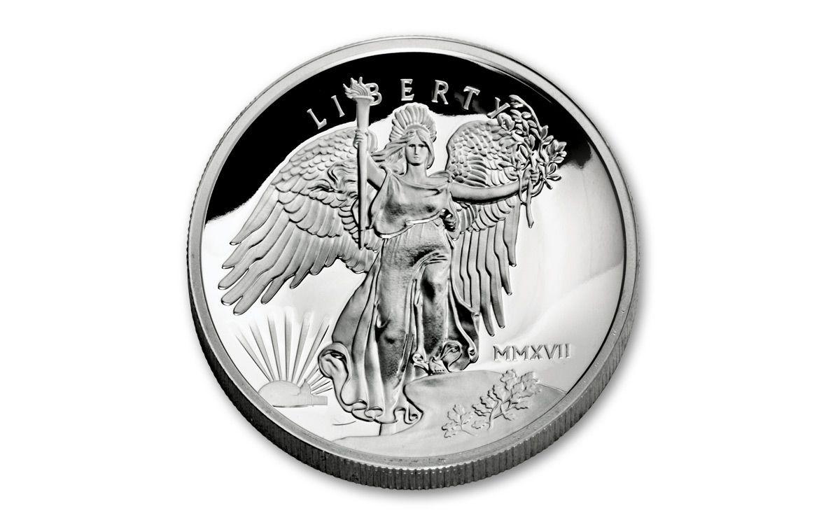 2017 Silver Saint Gaudens Liberty Proof Uhr Ngcpf70uc