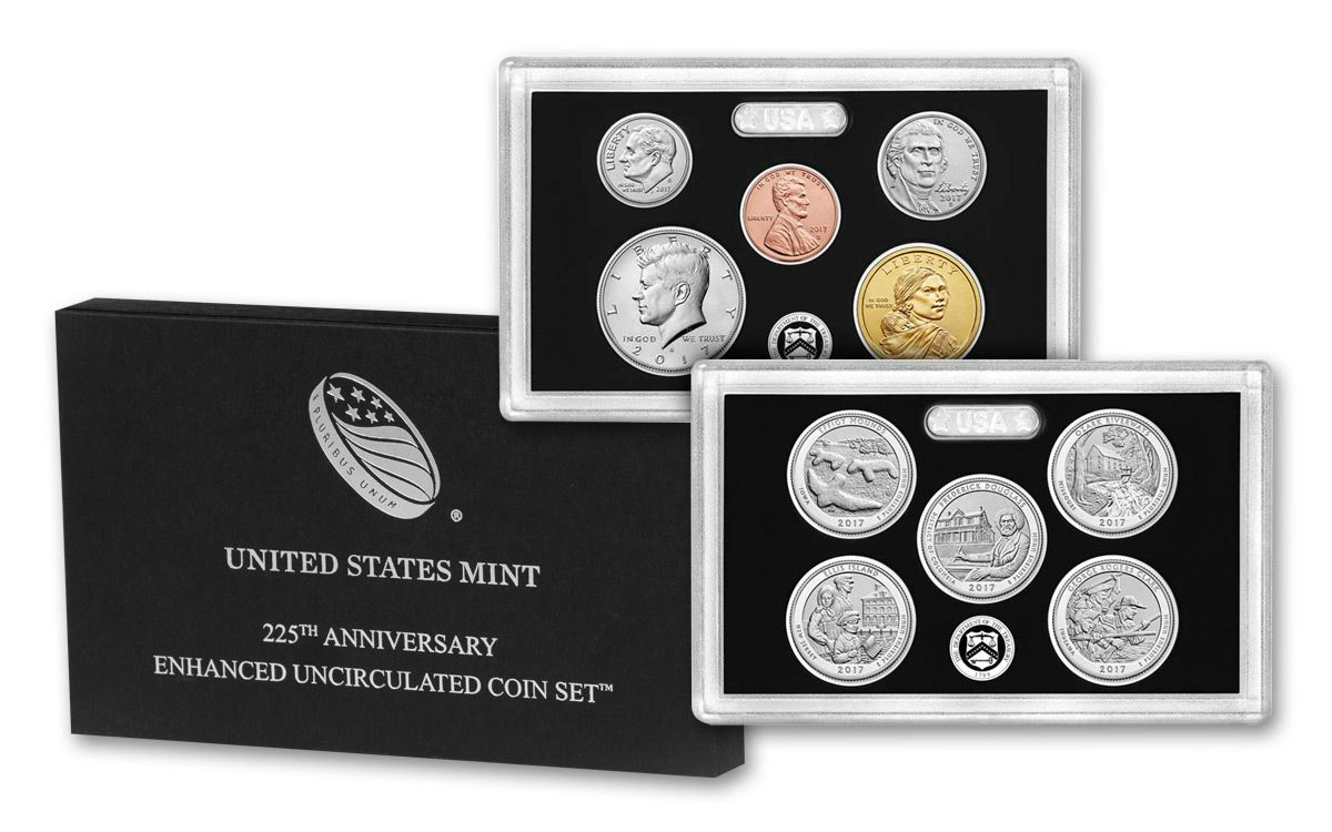 225th anniversary enhanced unc coin set