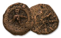 135-40 BC Widows Mite Janeus Lepton in Mini Folder