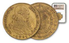 1772-1820 Spain Gold 4 Escudos NGC AU