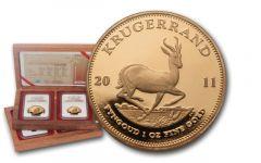 2011 South Africa Gold Krugerrand Set NGC PF70 First Struck