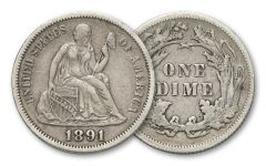 1837-1891 10 Cent Seated Liberty