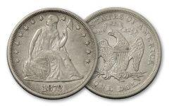 1840-1873 1 Dollar Silver Seated Liberty XF