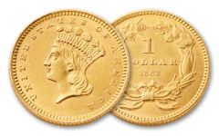 1856-1889 1 Dollar Gold Indian Type III XF