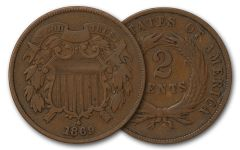 1864-1872 2 Cent Piece VG-F