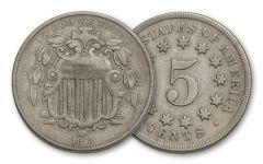 1866-1883 5 Cent Shield VF