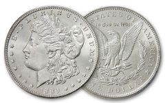 1889-P Morgan Silver Dollar BU