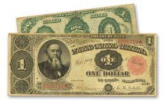 1891 1 Dollar Stanton Treasury Note Fine