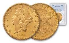 1904 20 Dollar Liberty NGC PCGS MS62