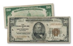 1929 50 Dollar Federal Reserve Bank Note Fine