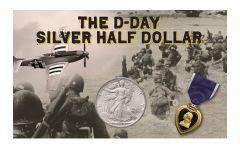 1944 50 Cent Walking Liberty BU D-Day