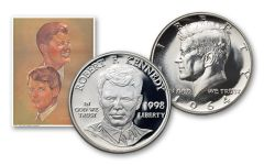 1964-1998 Kennedy Camelot Silver Proof 2pc Set