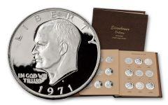 1971-1978 Eisenhower Dollar Collection 32 Pieces