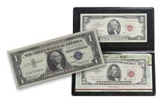 2 and 5 Dollar Red Seal Notes with Silver Certificate