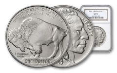 2001-D 1-oz Silver Buffalo NGC PCGS MS70