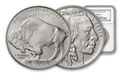 2001-D 1-oz Silver Buffalo NGC PCGS MS69